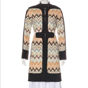 Missoni wool knee-length coat